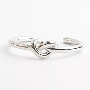 "Kate Spade Silver ""Loves Me Knot"" Cuff Bracelet"